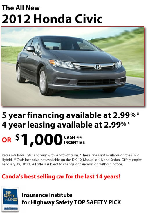 New 2012 Honda Civic for Sale