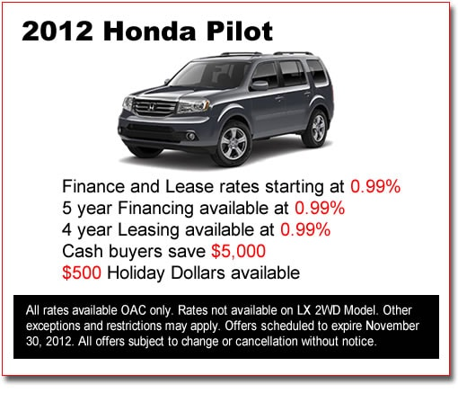 New 2012 Honda Pilots for Sale