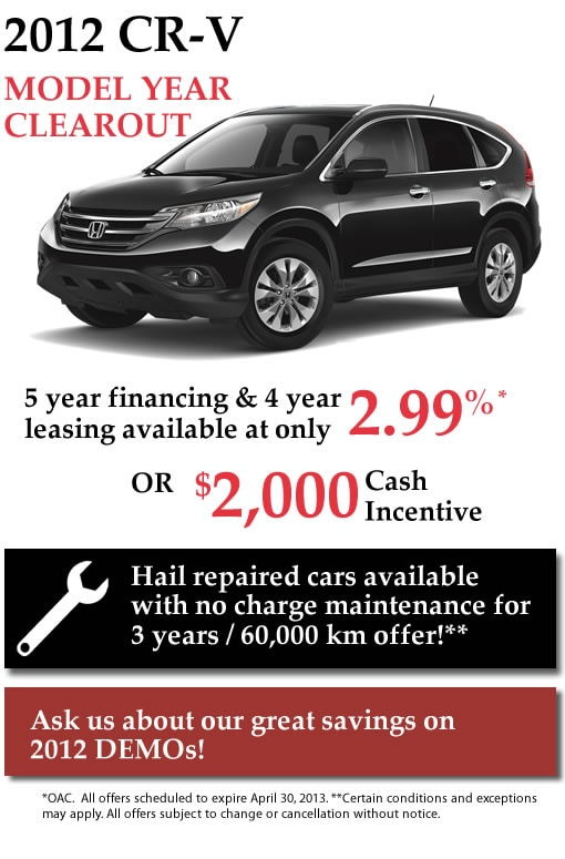 New 2012 Honda CR-V's for Sale