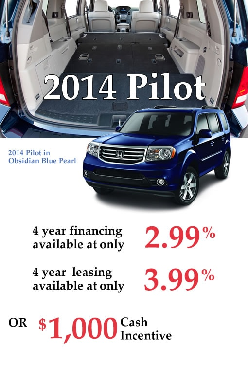 New 2014 Honda Pilots for Sale