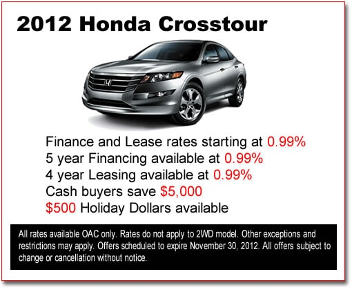 New 2012 Honda Crosstours for Sale