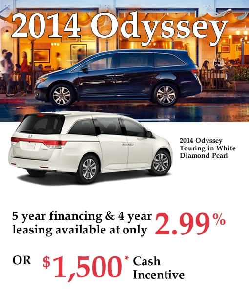 New 2014 Honda Odysseys for Sale in Calgary