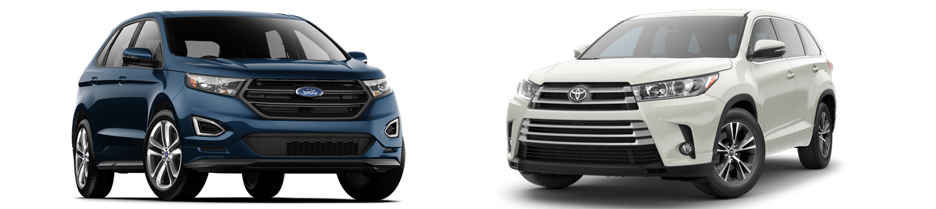 Compare Ford Edge Vs Toyota Highlander