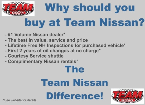 Why should you buy at Team Nissan? Demo Image at Teamnissannh.com