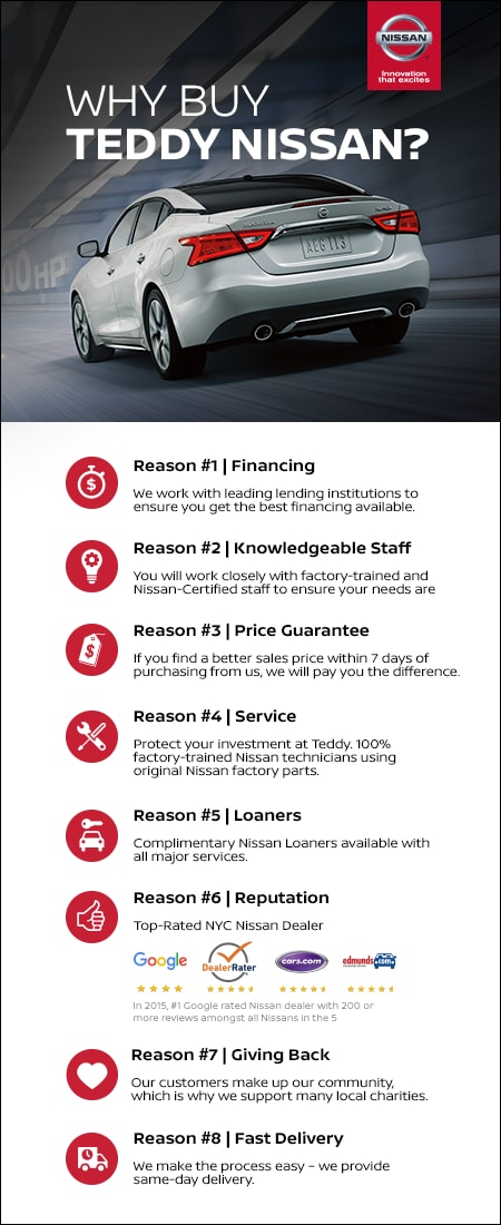 Why You Should Buy at Teddy Nissan | New & Used Car Dealership
