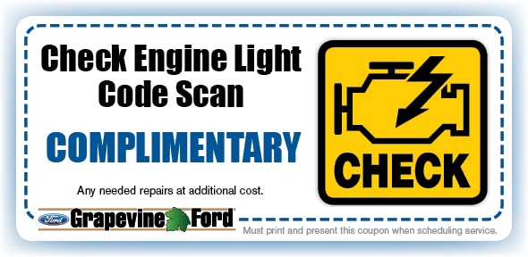 Check Engine Light Code Scan Service Coupon, Grapevine, TX Automotive Service Special
