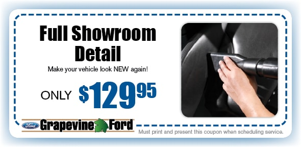 Full Showroom Detail Service Coupon, Grapevine, TX Automotive Service Special