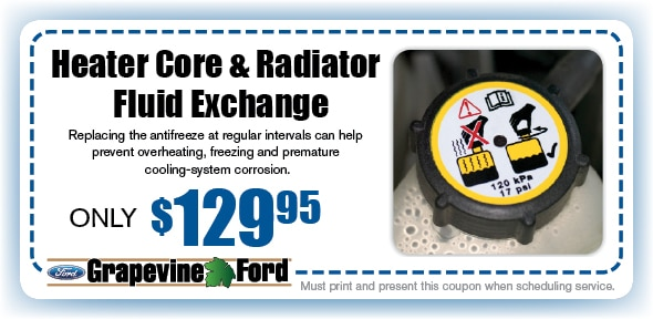 Radiator Flush Service Coupon, Grapevine, TX Automotive Service Special