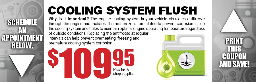 Money Saving Auto Service Coupon from Texas Toyota of Grapevine TX for Coolant Flush
