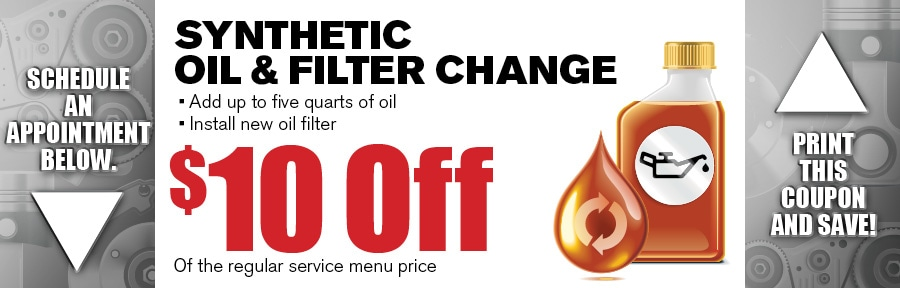 Money Saving Auto Service Coupon from Texas Toyota of Grapevine TX for Synthetic Oil & Filter Change