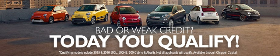 Lease a 2016 FIAT 500X$169/mo.+tax*36 mos.