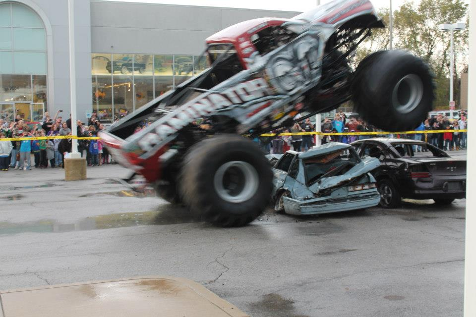 The Raminator Smashes Cars at Thomas Dodge in Highland, IN