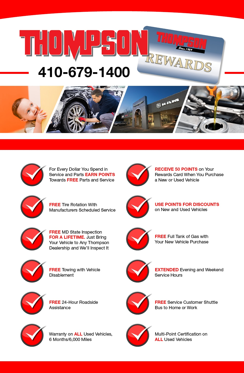 Why Buy from Thompson Chrysler Dodge Jeep Ram in Edgewood, MD