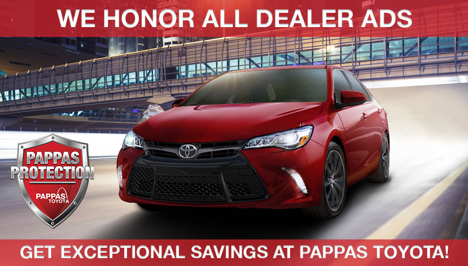 Drive New Toyota savings Pappas Toyota St. Peters MO