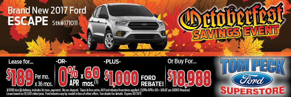 October 2017 Special Ford Escape