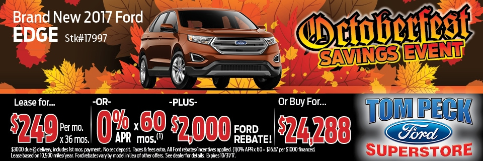 October 217 Special Ford Edge