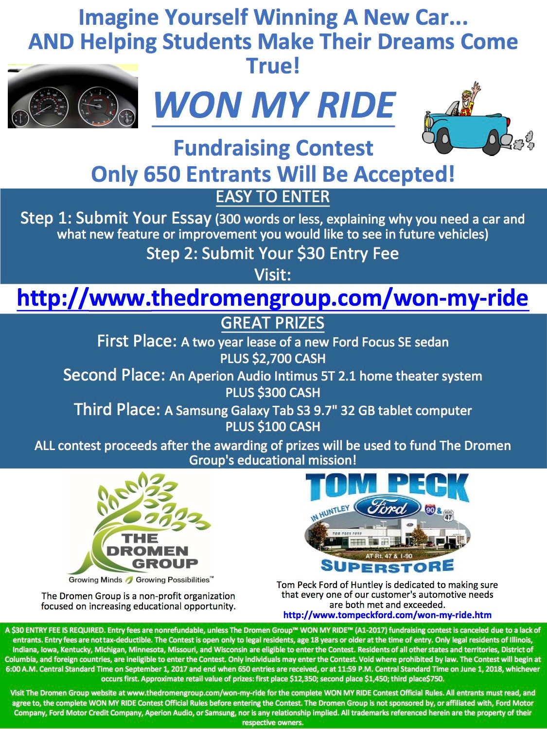 WON MY RIDE Flyer