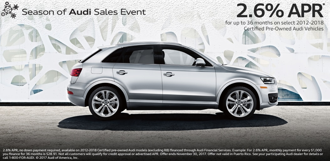 Audi Certified PreOwned Specials Englewood NJ CPO Offers - Audi q5 cpo
