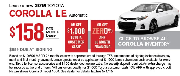Toyota Corolla Lease Deals Nj Eating Out Deals In