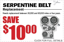 Serpentine Belt Service Coupon