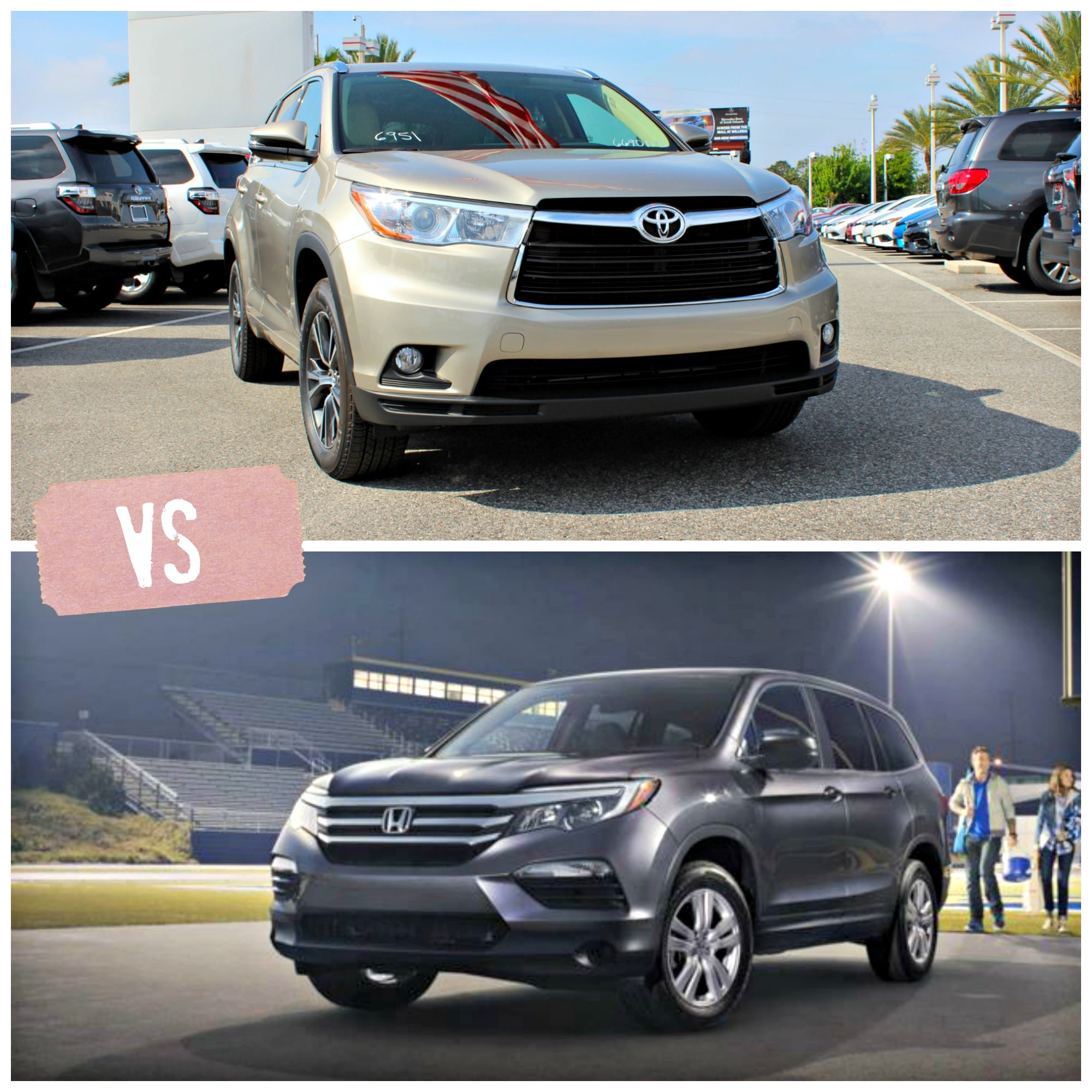 Ford Dealers In Orlando: 2016 Toyota Highlander Vs Honda Pilot