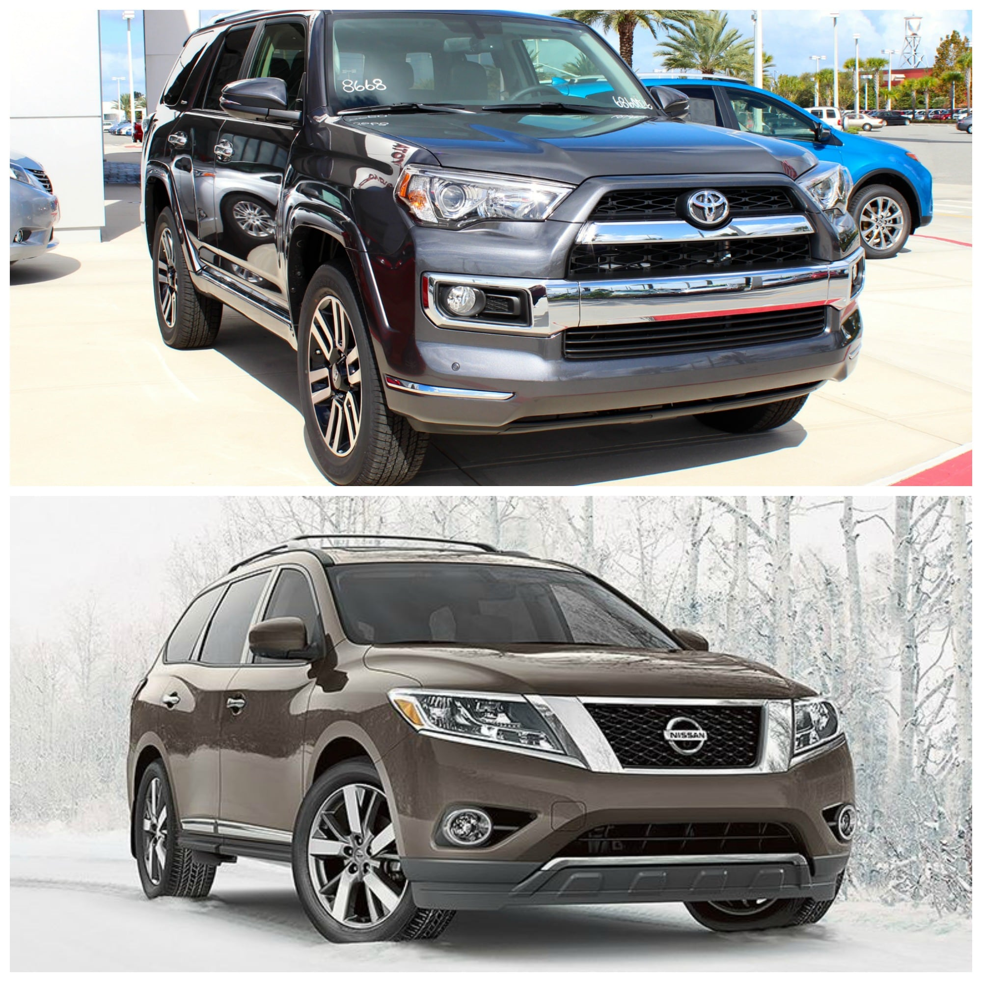 2016 toyota 4runner vs nissan pathfinder new toyota suv. Black Bedroom Furniture Sets. Home Design Ideas