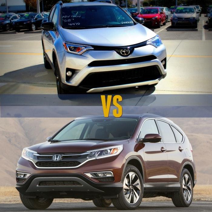2016 toyota rav4 vs honda cr v car comparisons for Honda crv vs rav4