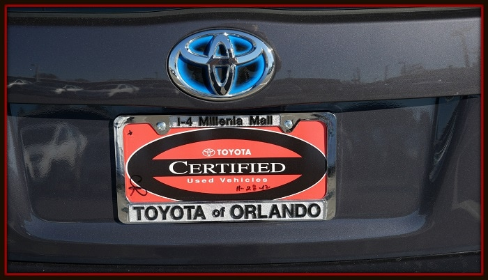 Orlando Toyota Certified Used Vehicles