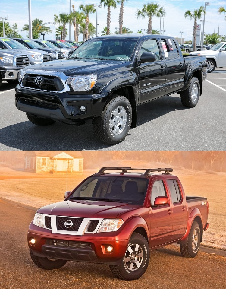 2014 toyota tacoma vs nissan frontier toyota trucks near orlando. Black Bedroom Furniture Sets. Home Design Ideas