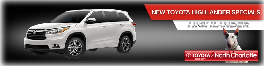 New Toyota Highlander in N Charlotte