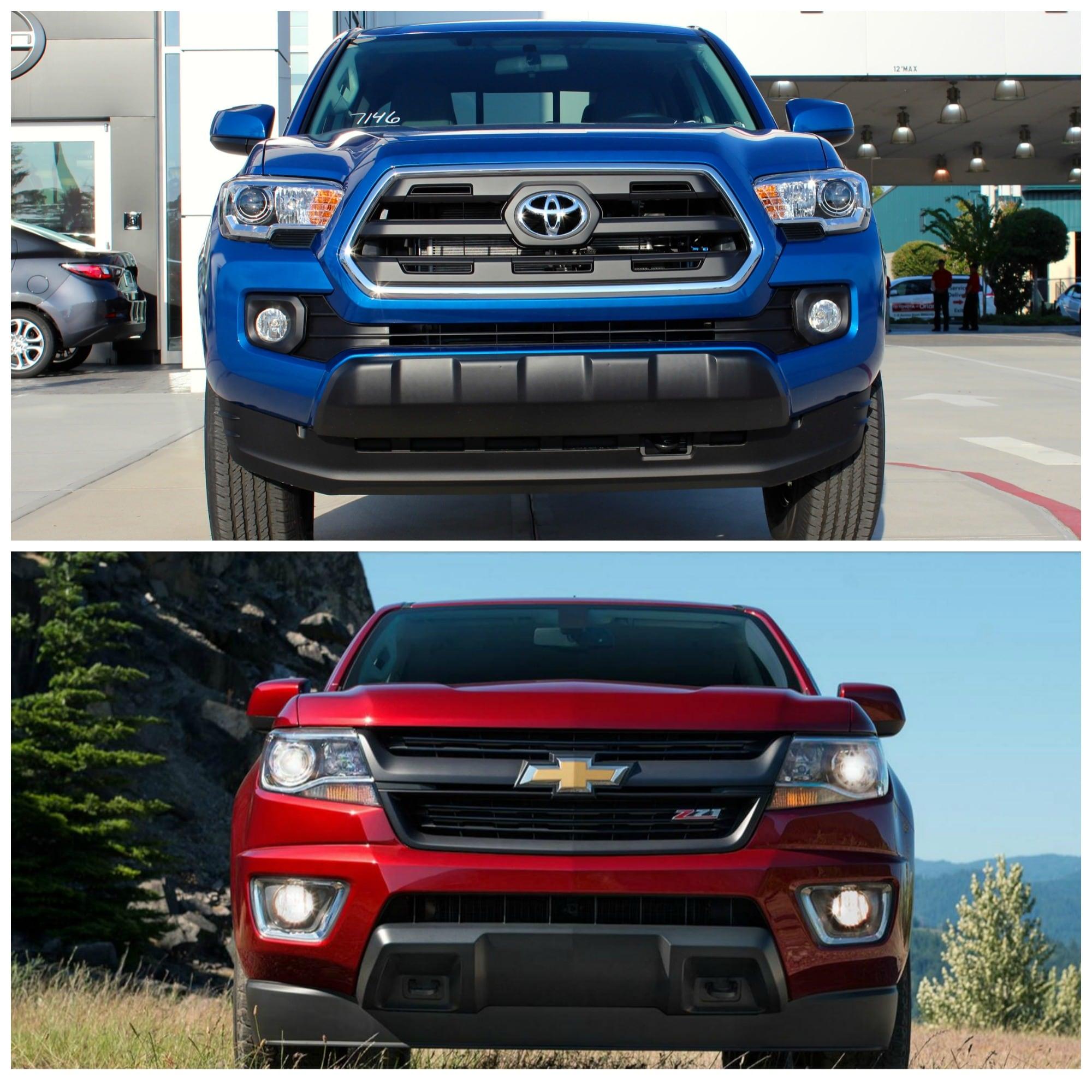 2016 Toyota Tacoma Vs Chevy Colorado