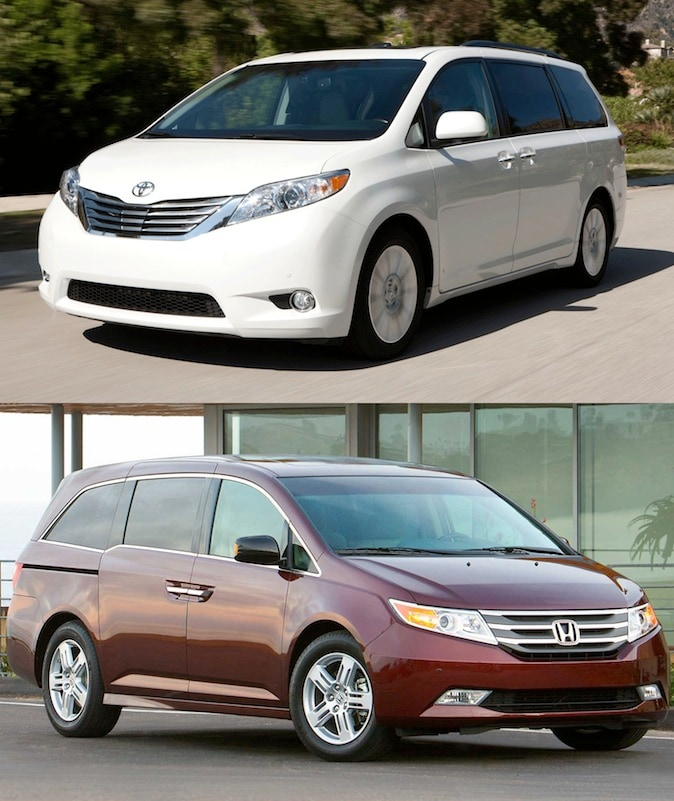 2014 toyota sienna vs honda odyssey n charlotte toyota for sale. Black Bedroom Furniture Sets. Home Design Ideas