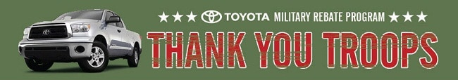 Orlando Toyota Military rebate