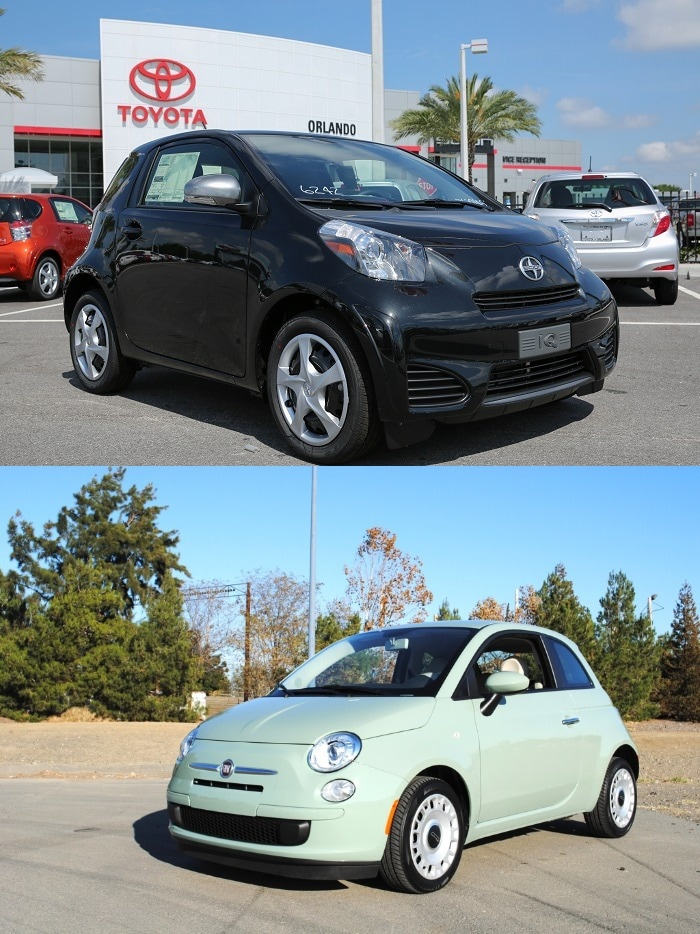 Orlando Scion iQ vs Fiat 500 Pop