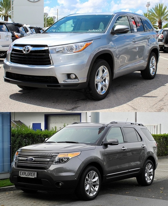 Toyota Highlander vs Ford Explorer