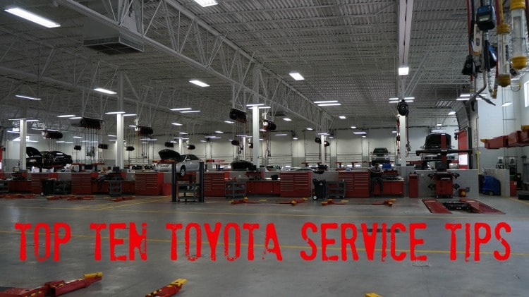Toyota Service tips