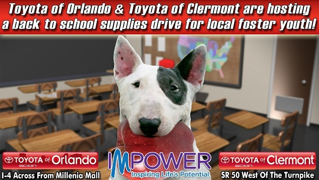 Toyota of Orlando school supplies drive