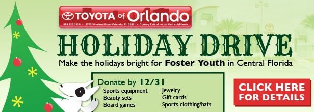 Toyota of Orlando holiday drive