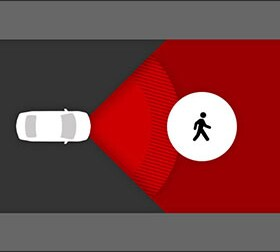Information about Pre-Collision System With Pedestrian Detection Function (PCS w/PD)