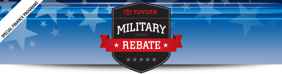 Toyota Military Rebate Program with Toyota Financial Services in Goleta, CA