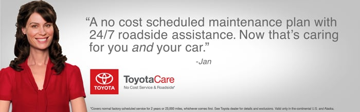 ToyotaCare No Cost Maintenance & Roadside