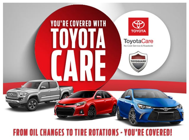 ToyotaCare Benefits Tampa Roadside Assistance Toyota Maintenance