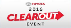 2016 Toyota Model Clearout Event at Scarborough Toyota