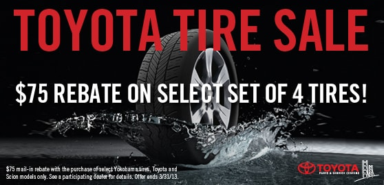 Toyota Tire Sale in Palo Alto and Mountain View, CA