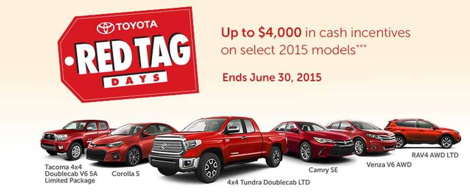 Toyotatown's Red Tag Days