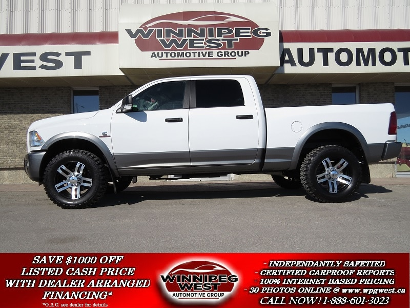 2013 Dodge Ram 2500 CUSTOM OUTDOORSMAN CREW 4X4,  CUMMINS DIESEL, BACK Truck Crew Cab