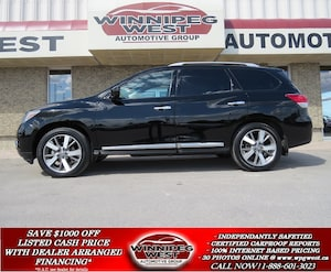 2013 Nissan Pathfinder PLATINUM 7 PASS, PAN ROOF, NAV, MB SUV, 1 OWNER!