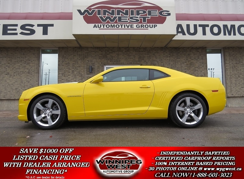 2011 Chevrolet Camaro Rally Yellow, 2SS, RS, 426HP, LEATHER, SUNROOF, LI Coupe