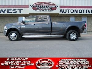 2014 Dodge Ram 3500 LARAMIE CUMMINS DUALLY 4X4, NAV, CAMERA, 1-OWNER! Truck Crew Cab