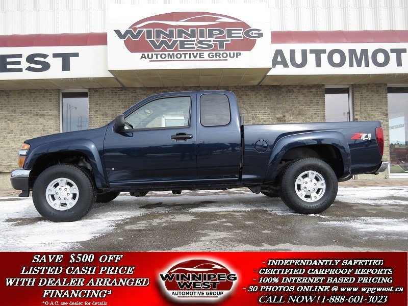 2008 Chevrolet Colorado RARE LT Z71 4X4 OFF ROAD PACKAGE, 3.7L ENGINE, LOW Truck Extended Cab